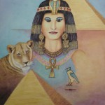 oud Egypte aquarel